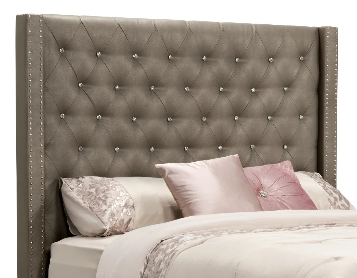 Diva Faux Leather Queen Headboard The Brick