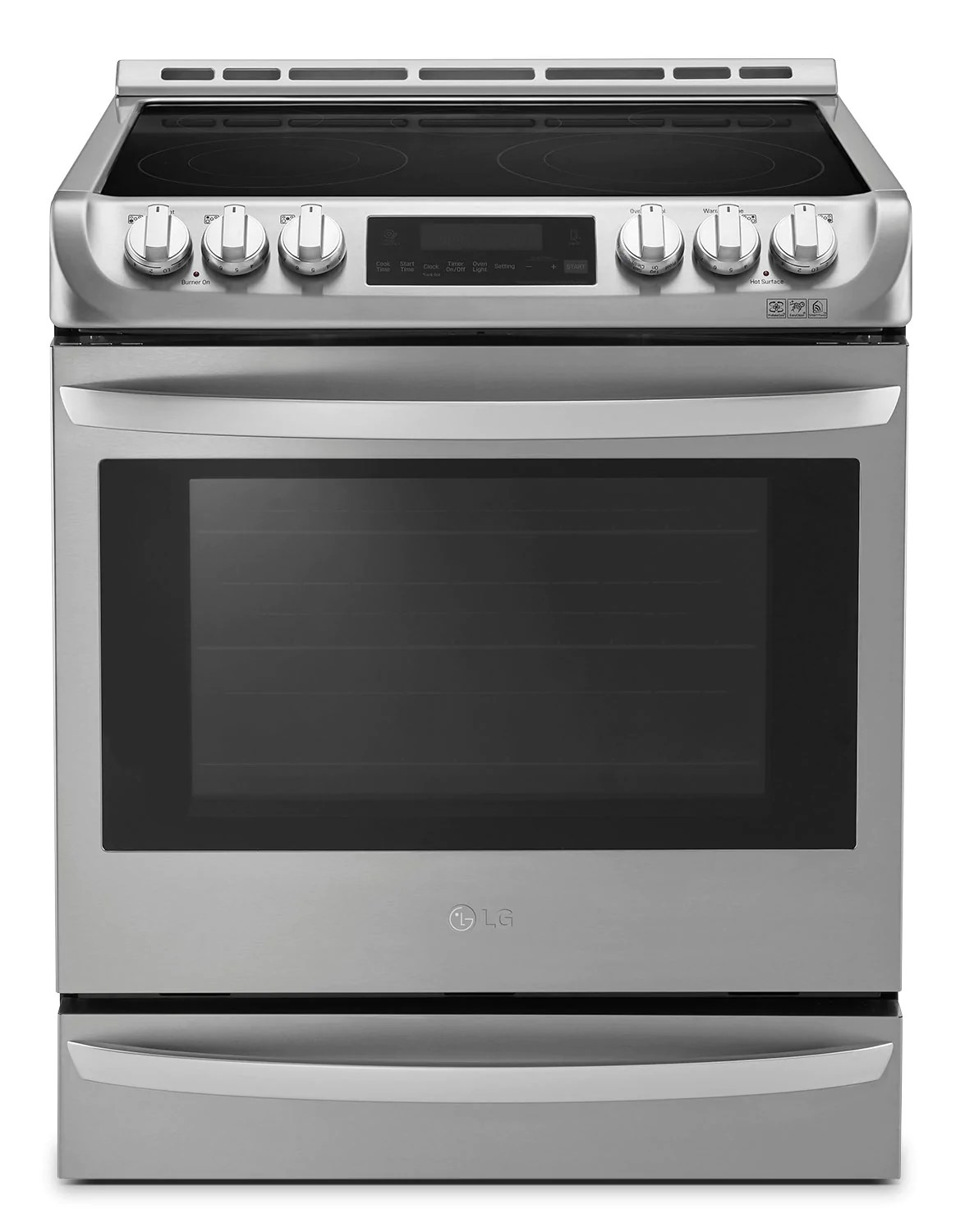 lg 6 3 cu ft front control freestanding electric range with probake convection lse5613st