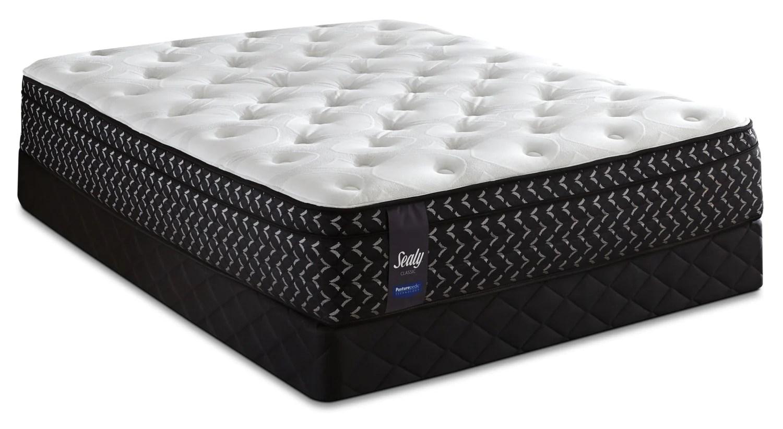 sealy posturepedic crimsan firm euro top queen mattress setensemble matelas ferme a euro plateau crimsan posturepedic de sealy pour grand lit
