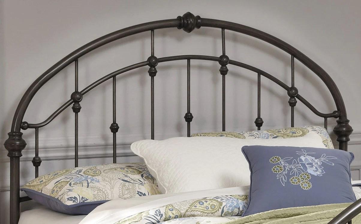 tete de lit nashburg en metal pour grand lit bronze