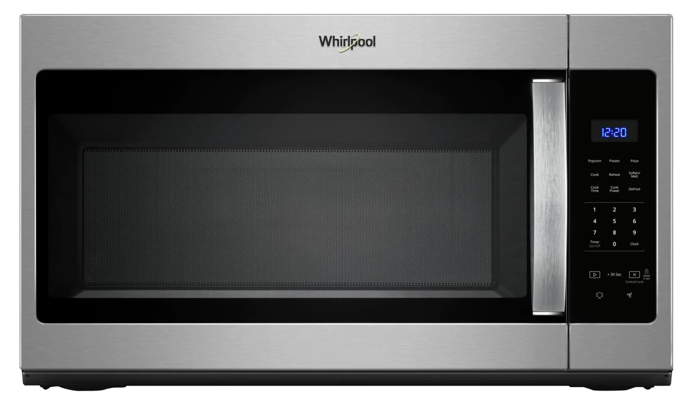 whirlpool 1 7 cu ft microwave hood combination with electronic touch controls ywmh31017hz