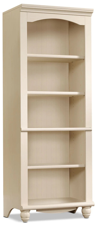 Wooden Leaning Panel 5 Tier Book Shelf Open Back Panel