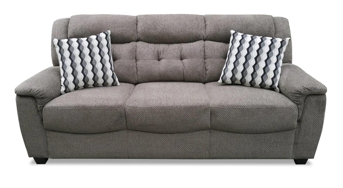 lana chenille sofa grey