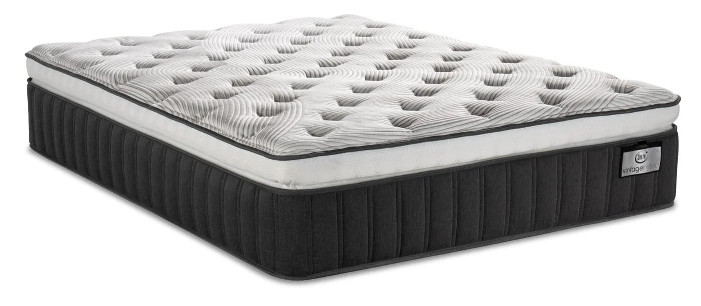 serta vintage hybrid symmetry super pillowtop twin xl mattress