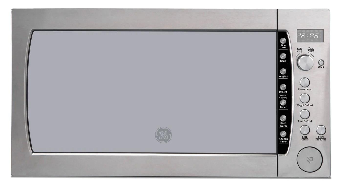ge profile 2 2 cu ft countertop microwave peb3228rmss