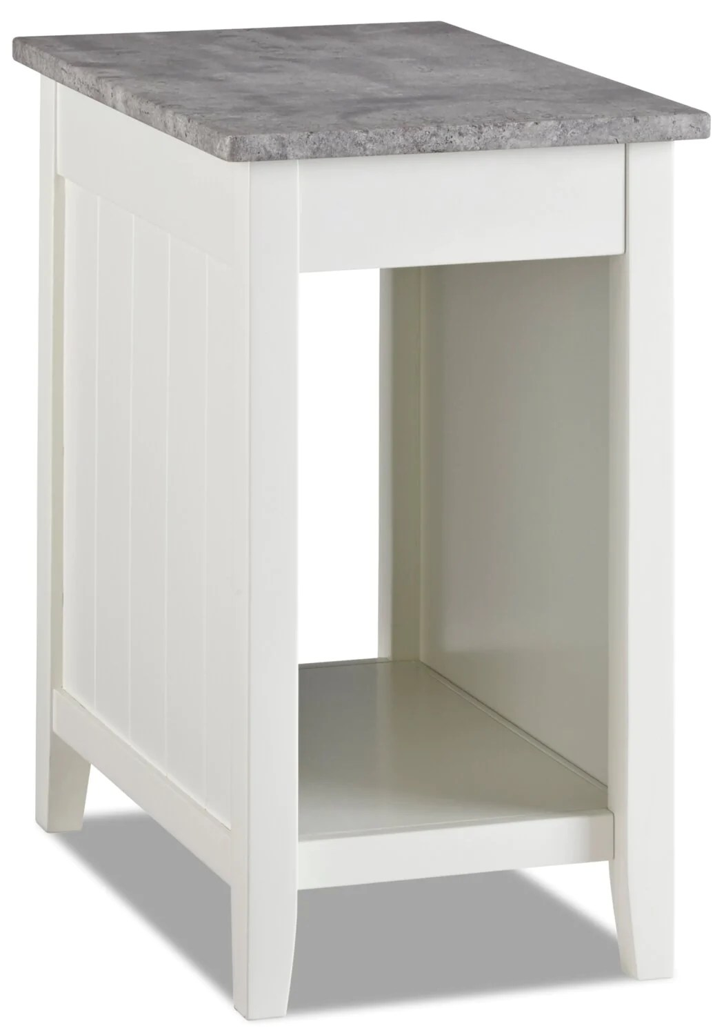 jodie chairside table with usb white