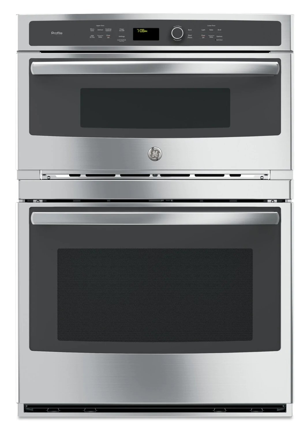 ge profile 6 7 cu ft built in combination microwave and wall oven pt7800shss