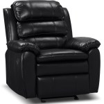 Adam Leather Look Fabric Reclining Glider Chair Black The Brick