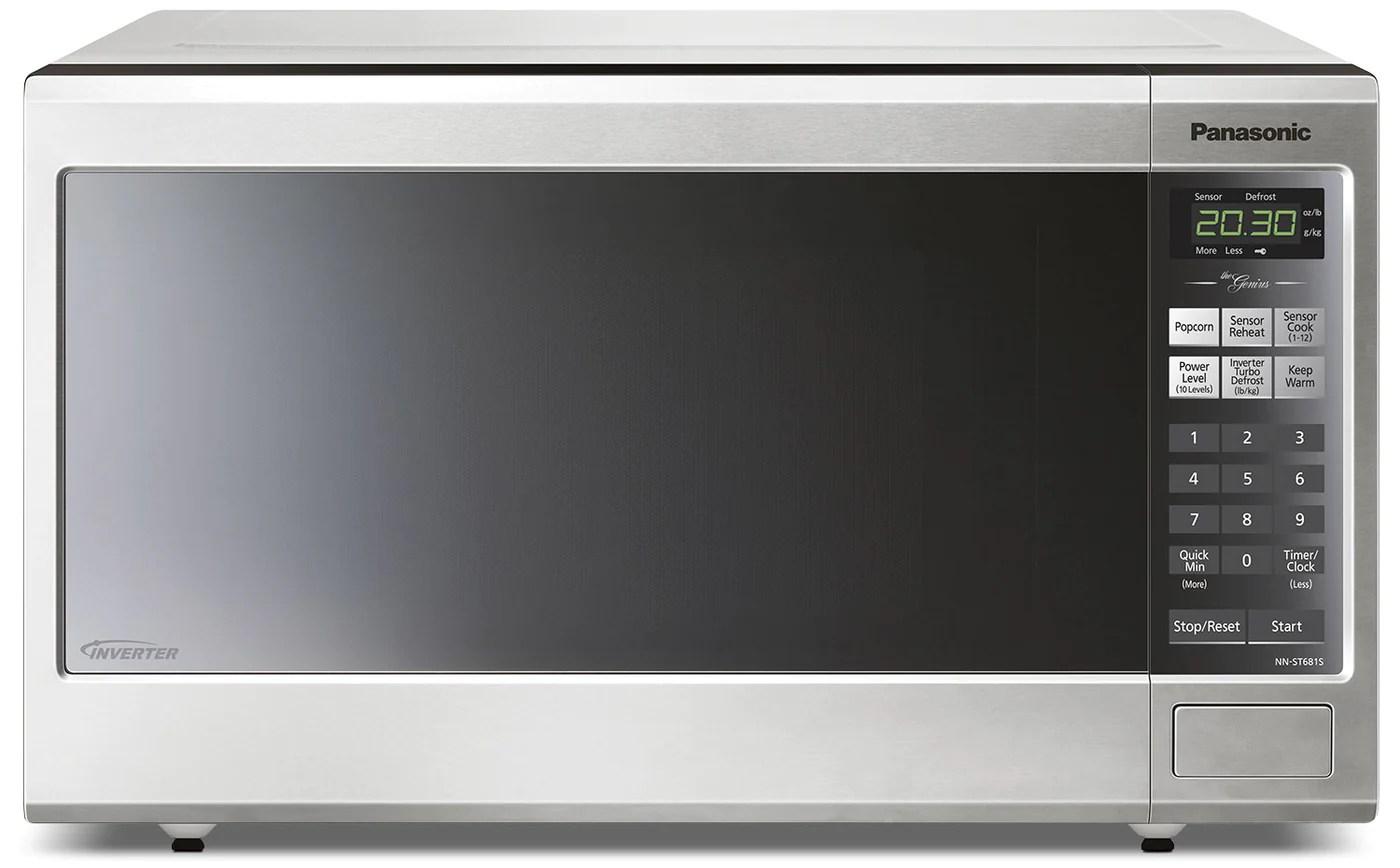 panasonic genius 1 2 cu ft countertop microwave nnst681sc