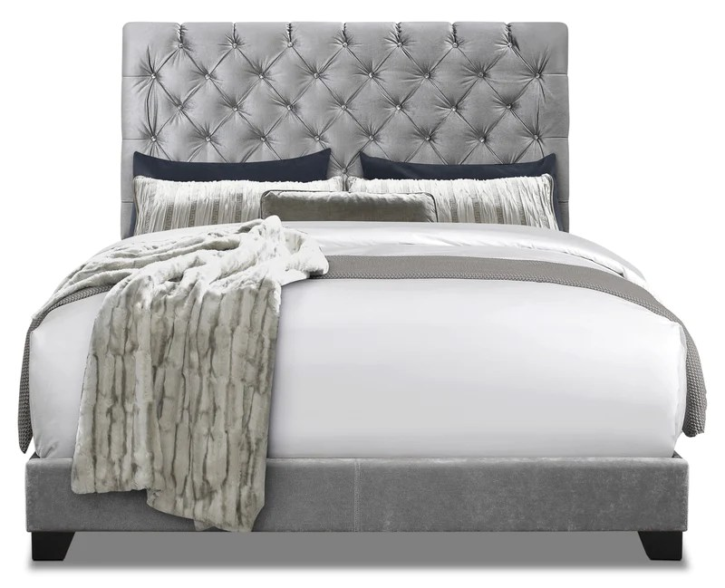 candace king bed tres grand lit rembourre candace