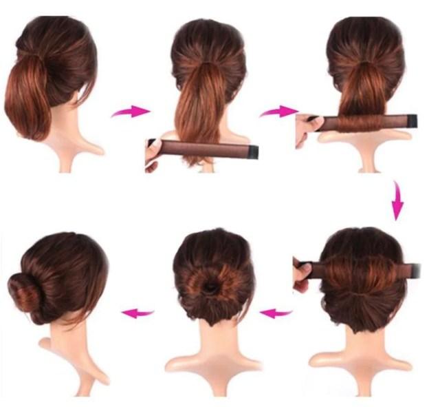 magic french twist instant hair bun maker