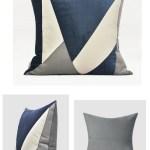 Blue White Gray Simple Style Modern Throw Pillow Sofa Pillows Cou Paintingforhome
