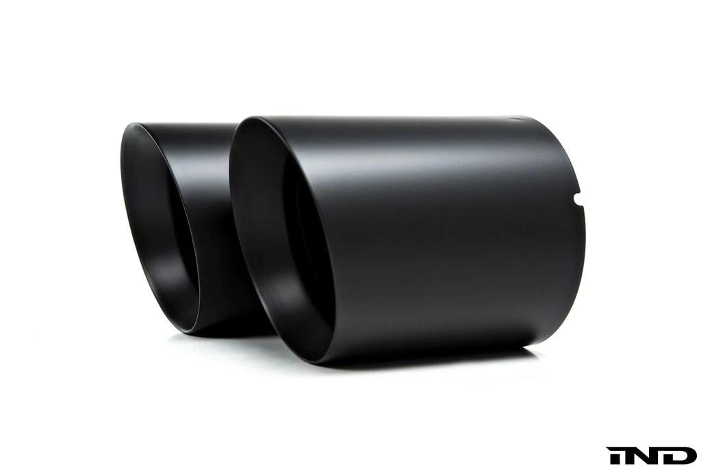 ind matte black exhaust tip set a90 supra