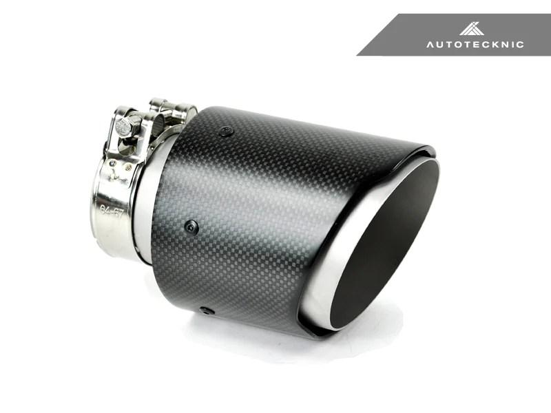 autotecknic dry carbon fiber exhaust tip