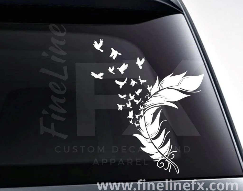 Bird Black Stickers White And