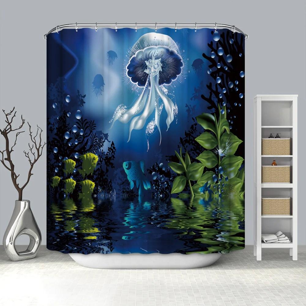 https gojeek com products deep see world art luminous jellyfish shower curtain