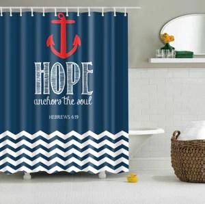 hope anchor shower curtain hebrews 6 19 hope bible blue nautical the soul bathroom decor