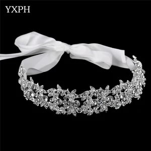 Handmade Bridal Headband Tiara Crown Silver Wedding Hair Accessories     Handmade Bridal Headband Tiara Crown Silver Wedding Hair Accessories Elegant  Headpiece Rhinestone Women Hair Jewelry