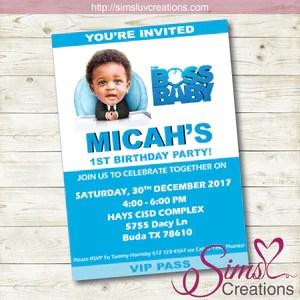 boss baby girl birthday invitation
