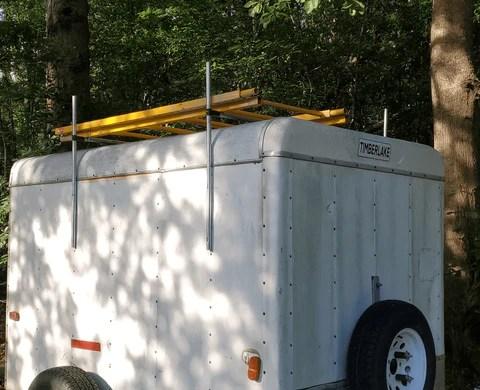 diy trailer ladder rack gaga ball pit