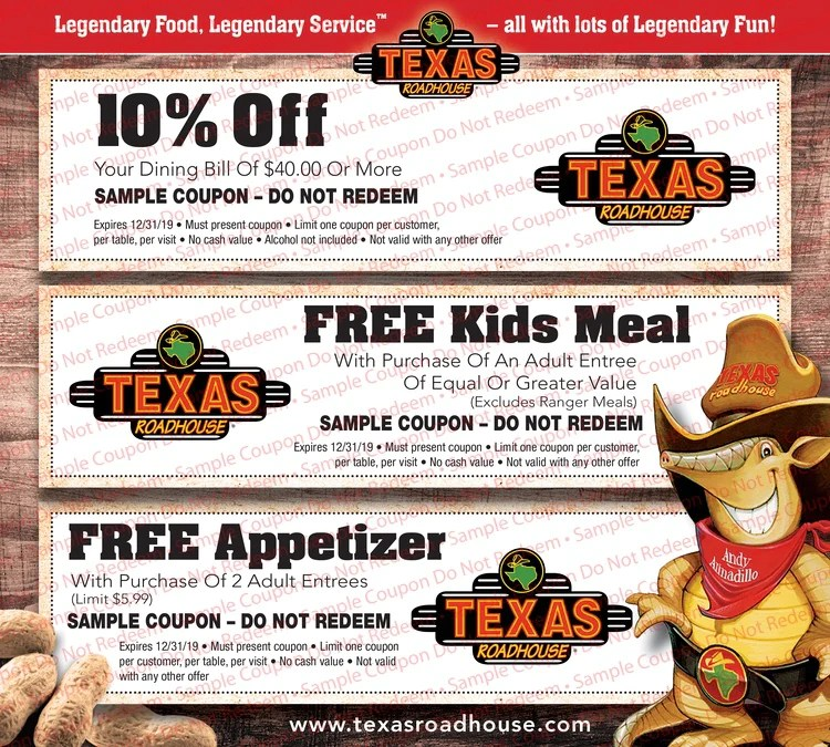 Top Texas Roadhouse Coupons Printable Bates S Website