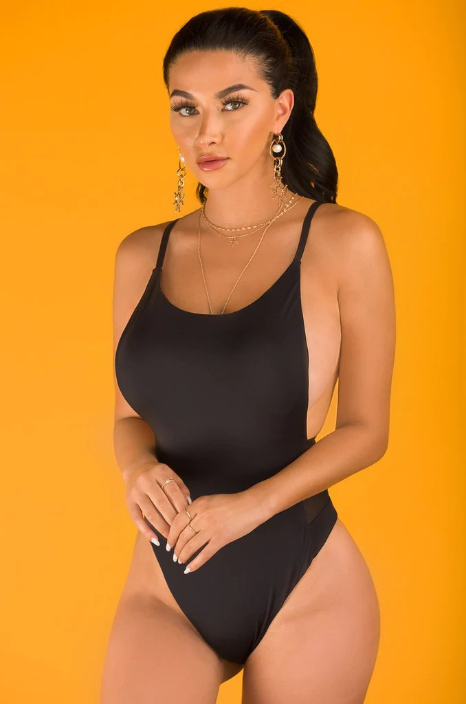 Look Back At It Swimsuit - Black 8