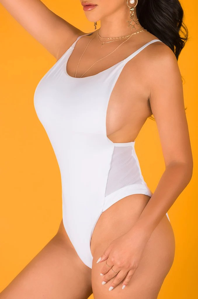 Look Back At It Swimsuit - White 9