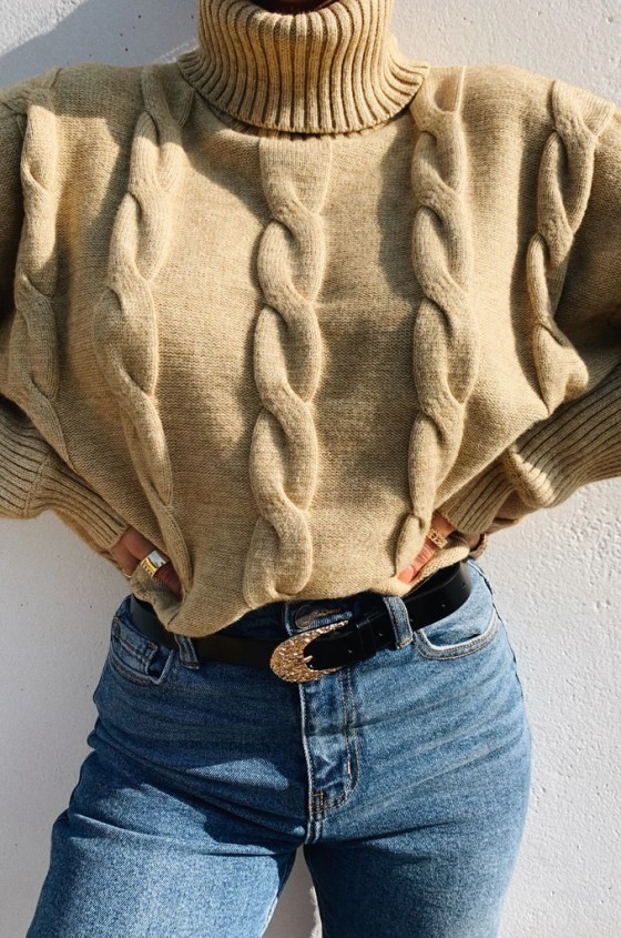Oh My Cozy Crop Sweater - Nude 1