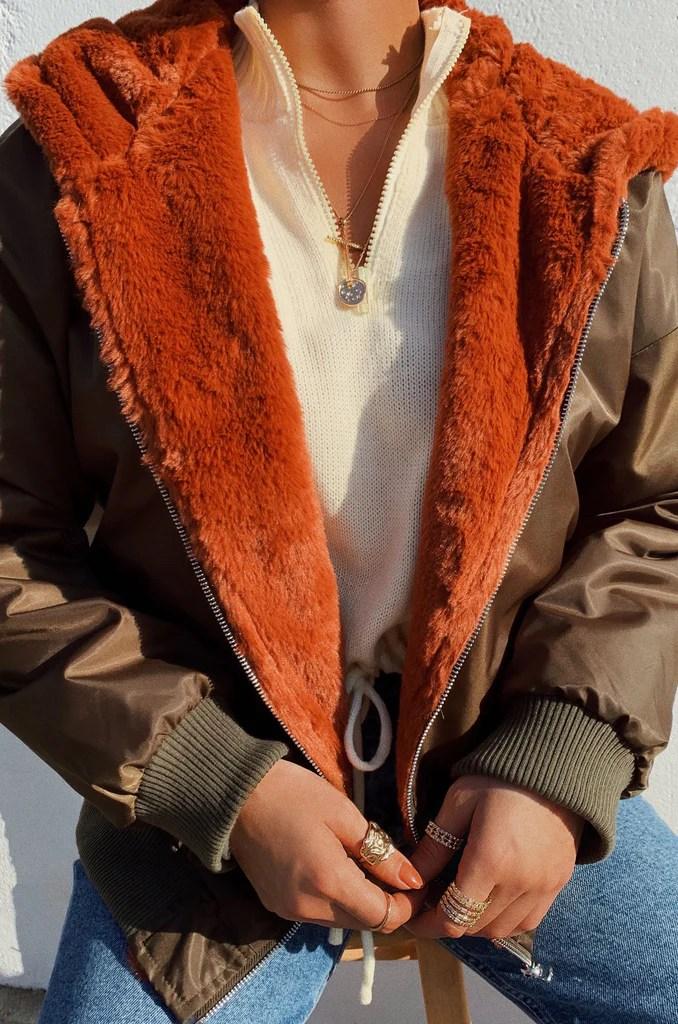 Brooklyn Nights Jacket - Olive/Rust 29