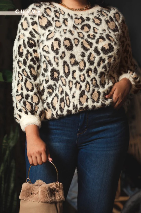 Heart Of The Wild Sweater - Leopard 2