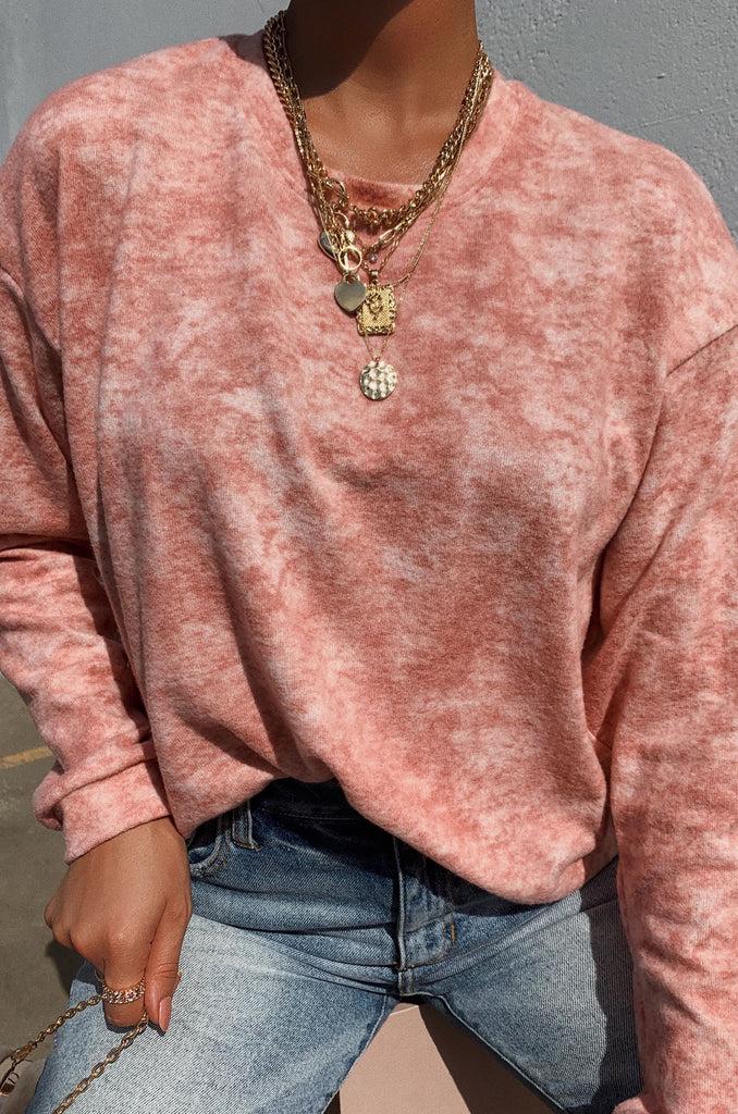 Weekend Feelz Sweater - Pink 6