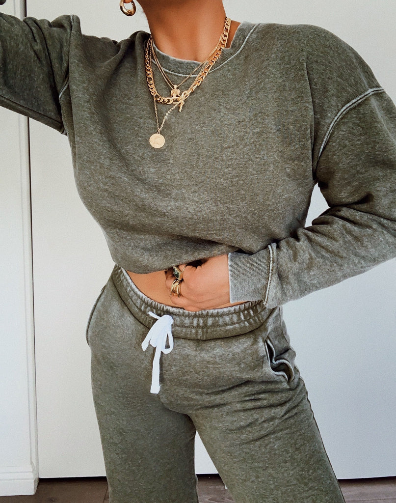 Chill Out Crewneck - Olive