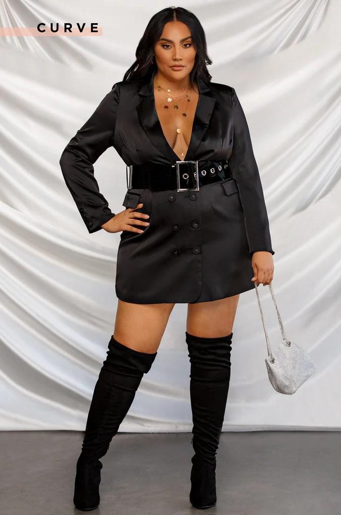 Executive Moves Blazer Dress - Black 9