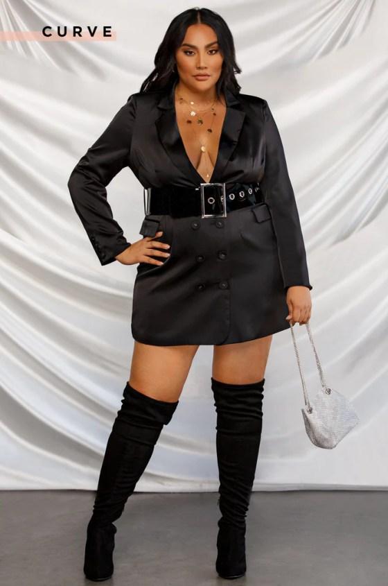 Executive Moves Blazer Dress - Black 7