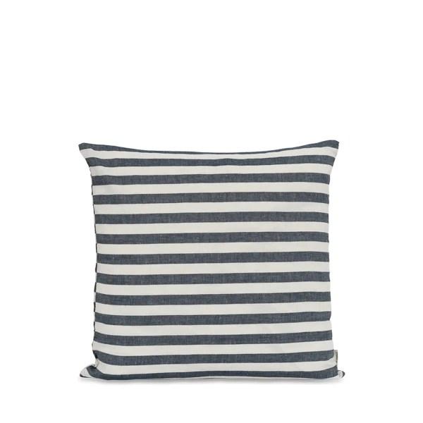 studio feder pillow 50 50 wide stripe navy