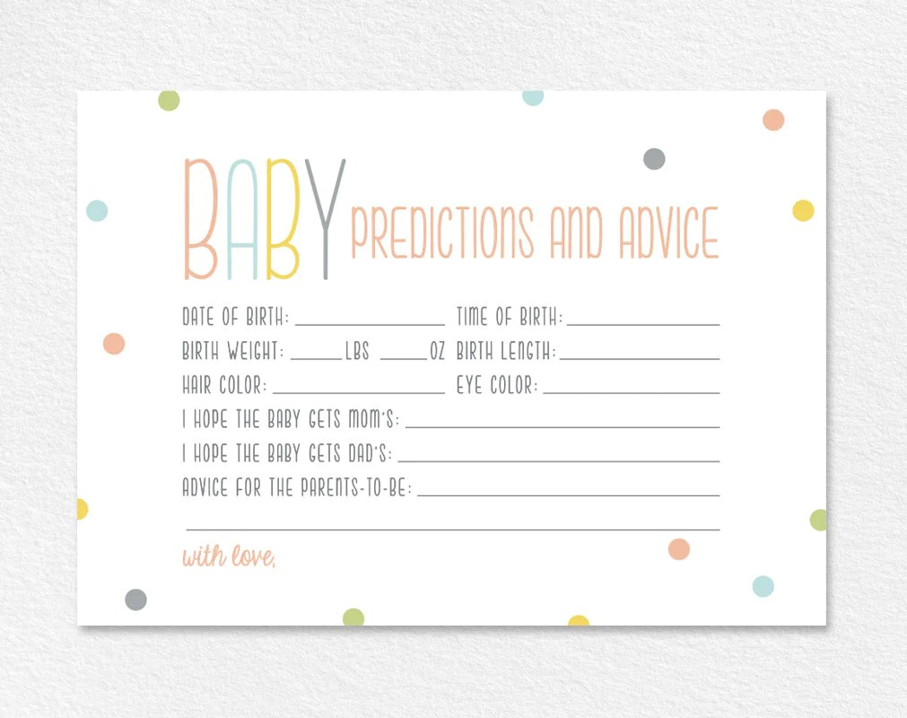 Predictions For Baby Baby Predictions Baby Shower Game Baby Shower Ideas Gender Predictions Pdf Instant Download Bpb93 6