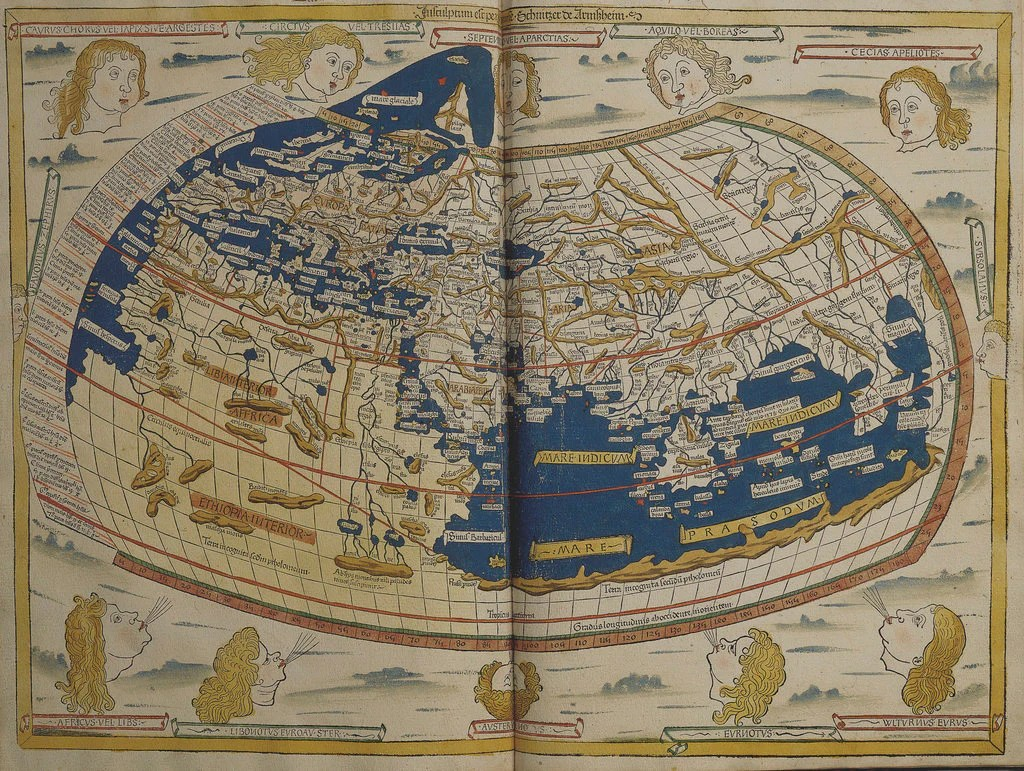 World Map From Ptolemy S Cosmographia Of 1492 Posters Prints By Ptolemy