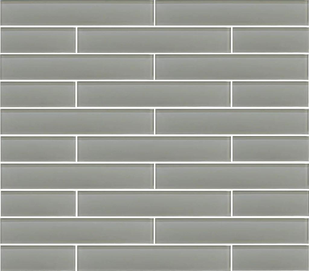 pearl grey 2x12 glass subway tiles
