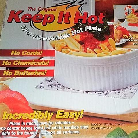 keep it hot microwaveable hot plate as seen on tv