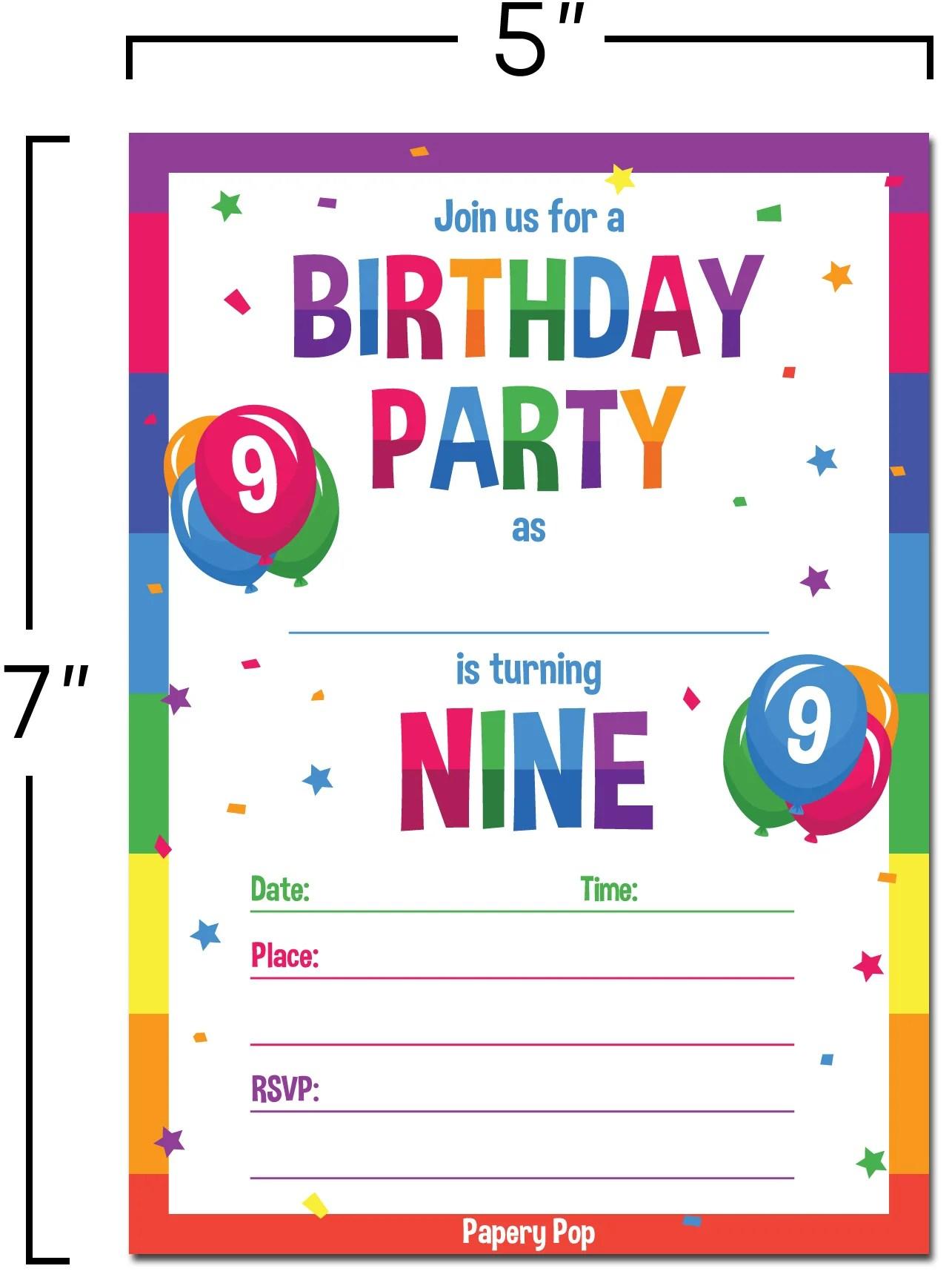 Birthday Invitations 9 Year Old Boy