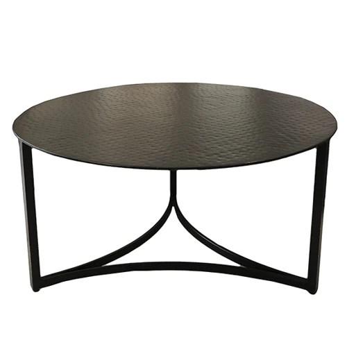 martelli metal round coffee table