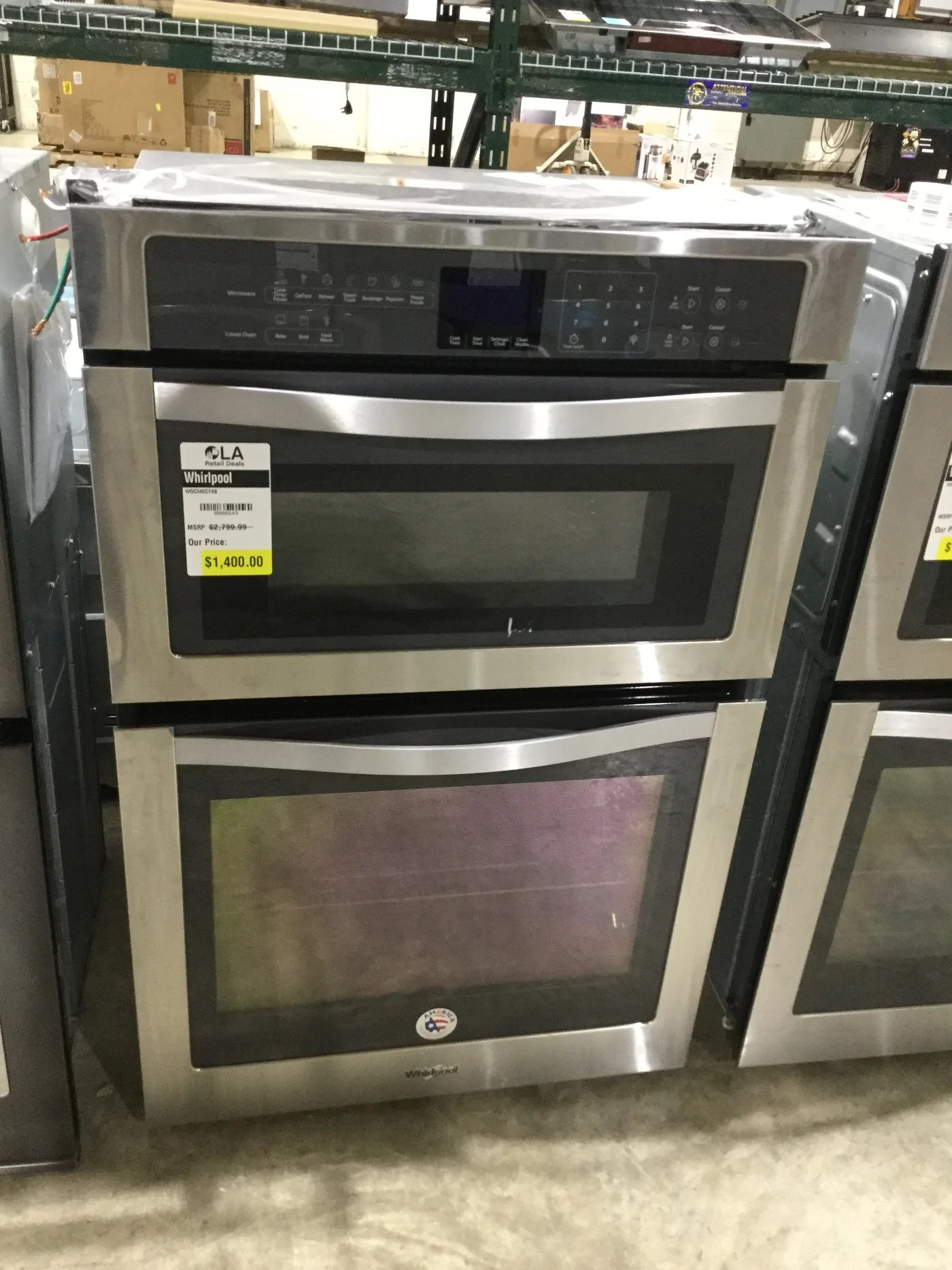 whirlpool woc54ec7as 27 inch microwave combination wall oven