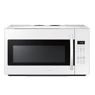 samsung me18h704sfw ac over the range microwave with simple clean filter 1 8 cu ft