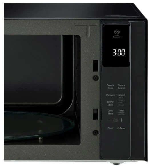 lg lmc1575bd 1 5 cu ft neochef countertop microwave with smart inverter and easyclean in black stainless steel