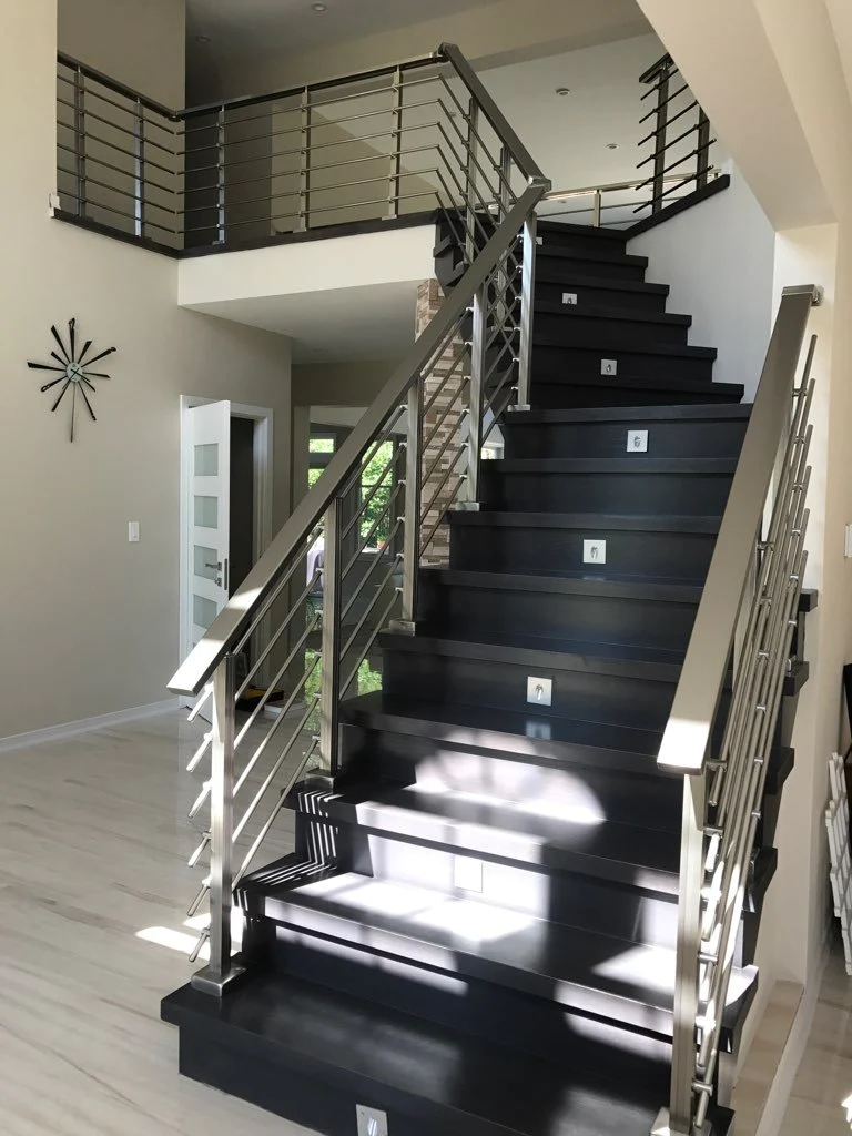 Modern Square Balcony Railing With Aluminium Handrail Kit – Diy   Aluminium Railing For Stairs   Hand   House   Indoor   Staircase   3 Foot