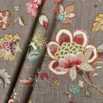 Curtain Panels Grey Green Pink Red Brown Modern Floral Curtains Taupe Jll Home
