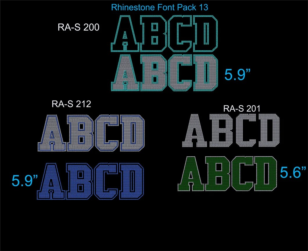Download Font Pack 13 Download Only TTF Rhinestone Fonts ...