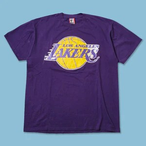 Purple Los Angeles Lakers T Shirt : Vintage Los Angeles Lakers T Shirt Xlarge Xxl Double Double Vintage