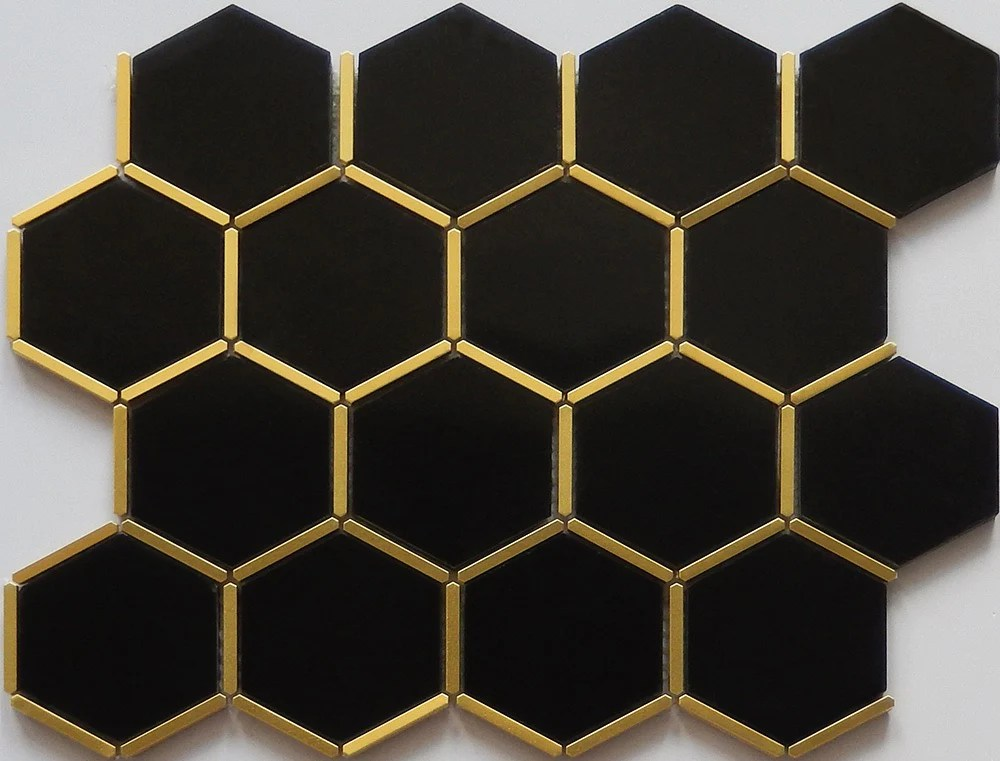 black tile with gold trim novocom top