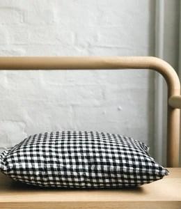 linen pillow case 30 x 40 black gingham a door
